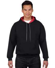 Men's Heavy Blend Contrast Hooded Sweatshirt
