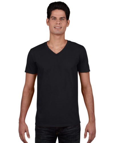Gildan Men's Soft Style V-Neck T-Shirt