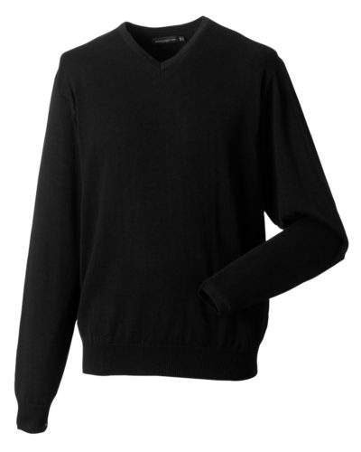Russell Men's V-Neck Knitted Pullover