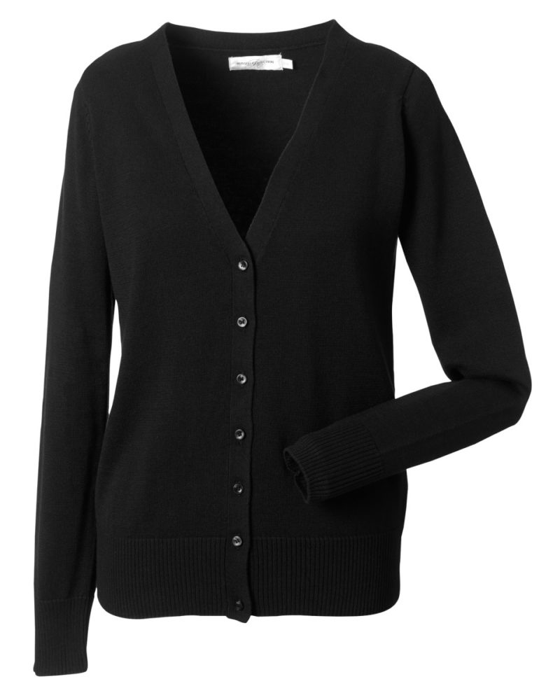 Russell Ladies' V-neck Knitted Cardigan