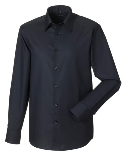 Russell Men's Long Sleeve Easy Care Tailored Oxford Shirt
