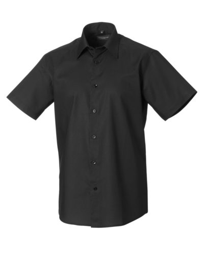 Russell Men's Short Sleeve Easy Care Tailored Oxford Shirt