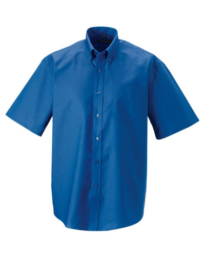 Russell Men's Short Sleeve Easy Care Oxford Shirt