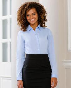 Russell Colelction Ladies Herringbone Long Sleeve Shirt