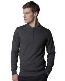 Kustom Kit Men's Long Sleeve Arundel Knitted Polo