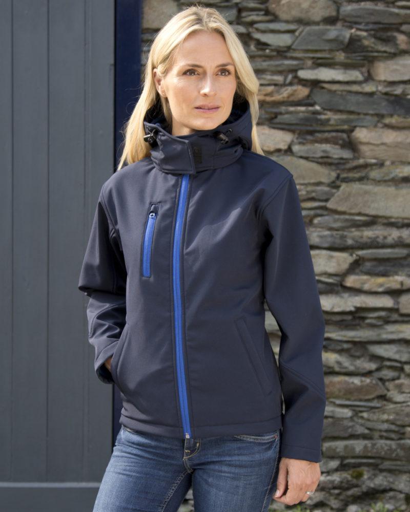 Result Ladies' Hooded TX Performance Softshell Jacket